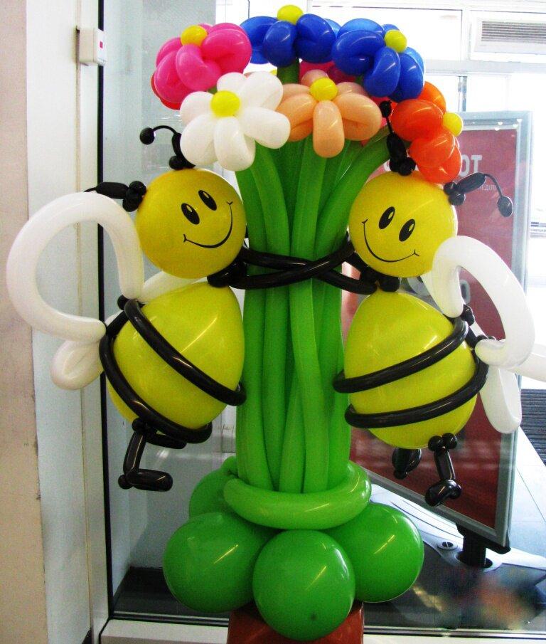 цветы из шариков фото: