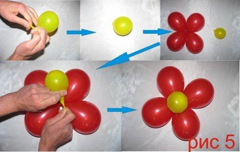серединки цветка из шаров